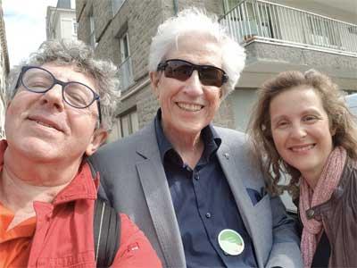 Gaston BROSSEAU avec Laurent GROSS et Laurence ADJADJ au Congrès Hypnose et Douleur 2018